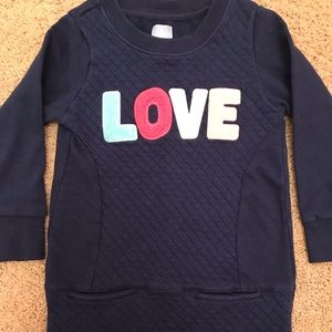 """Like new Gap """"love"""" quilted tunic with pockets!"""